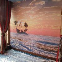 室內牆貼 油畫布